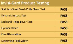 invisi gard test table